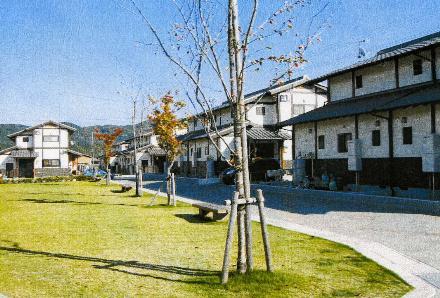 公園に隣接する住宅